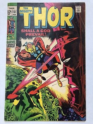 THOR #161 VG+  Kirby/Lee (Marvel 1969) Galactus- NO RESERVE!!!
