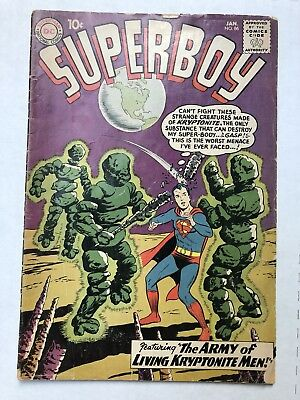 SUPERBOY 86 - Good ( D.C. 1961) Low Grade KEY Comic- Curt Swan- No Reserve!!!