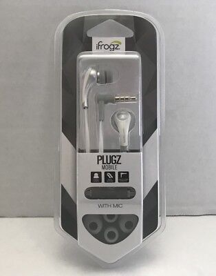 584af73d82c iFrogz Ear Pollution Plugz Mobile with MIC Earbuds Mobile Device IFPZMB-WH0