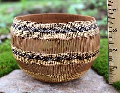 Antique circa-1900 Hupa Open Weave Native American Indian Basket NR