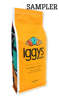 IGGYS COFFEE (SAMPLER) 2X 100gr PREMIUM COFFEE BEANS FRESHLY ROASTED DELIVERED