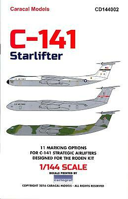Caracal Decals 1/144 LOCKHEED C-141 STARLIFTER U.S. Air Force Transport
