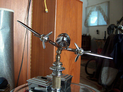 Art Deco DC-3 Propellers post war airplane ashtray stand $20 each FREE SHIPPING