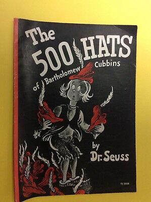 The 500 Hats of Bartholomew Cubbins by Dr. Seuss TJ 3558 SBS 1966 Childrens Book