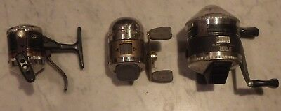 Vintage lot of Zebco fishing reels Model 33s Microcast all working condition.