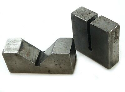 "Precision Machinist V Block Set. 4-1/4""x1-1/2"" with 3x3x 1"" Rounded end Block"