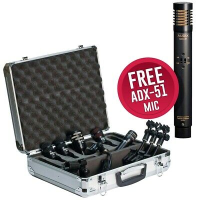 Audix DP5PLUS DP5A Drum Mic Pack w/ FREE ADX-51 Condenser Microphone