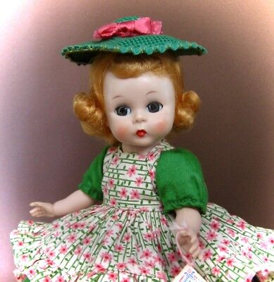 Tagged Adorable Vintage 1955 Slw Madame Alexander Kins Doll In School Dress #444