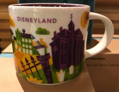 Disney Parks Disneyland You Are Here Starbucks Haunted Mansion Mug 2018 - New