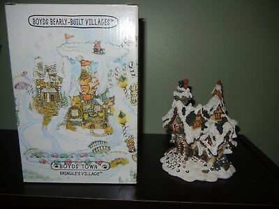 "Boyd's Barely Built Village ""Hoofer Hall Reindeer Dormitory""1st Edition  BNIB"