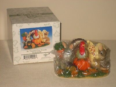 Fitz Floyd CHARMING TAILS ~ Be Thankful For Friends ~ 85/500 Original Packaging