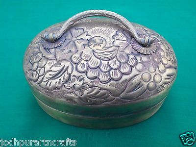Old Antique Vintage Look Indo Persian Islamic Caddy Opium / Coin Empty Box India