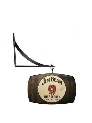 Jim Beam Whiskey Barrel Double Sided Sign