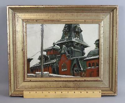 Original DEAN M LARSON American Brewing Beer Co Baltimore Maryland Oil Painting