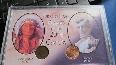 US Coinage Historic Lincoln Pennies 20th Century Set 1900 & 1999 Lot B106