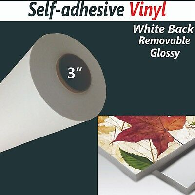 "42""x100ft /roll,3.9mil,Removable Self-adhesive Inkjet Printing Vinyl,Whilte Back"