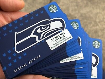 BRAND NEW OFFICIAL 2018-2019 Starbucks SEAHAWKS Gift Card FREE SHIPPING 12 MAN!