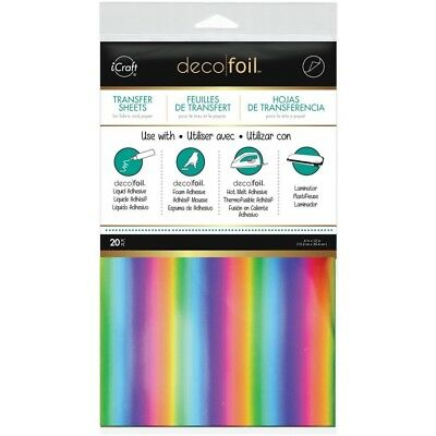 "Deco Foil Transfer Sheet 6""X12"" 20/Pkg - Rainbow"