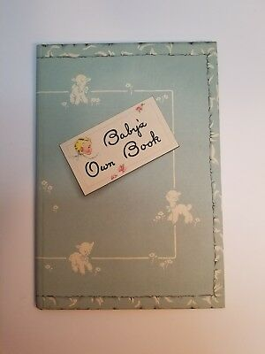 Babys Own Book Vintage Baby record book no marks 1948 memoirs religious, journal