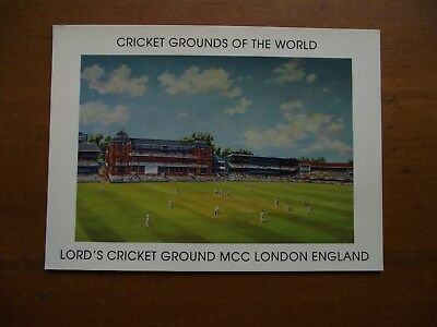 Retro Vintage Postcard: Lord's Cricket Ground / Grounds of the World
