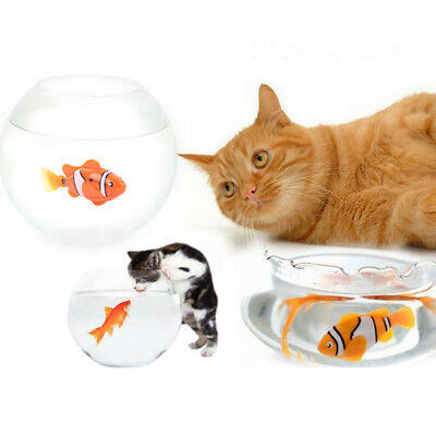 1pc Pet Cat Funny Toy Swimming Clownfish Activated Battery Powered Kid's Gift