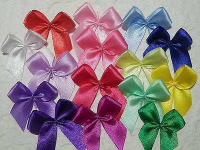 50 x 13mm Ribbon BOWS TRB2 SINGLE colour packs SCRAPBOOKING Cards CRAFT