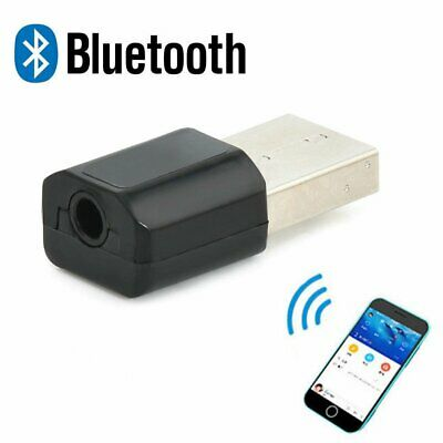 Bluetooth USB Wireless 3.5 mm AUX Audio Stereo Music Receiver Adapter Home Car