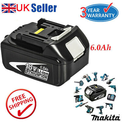 Best 6.0AH 18V Battery For Makita BL1840 BL1860 BL1815 LXT Lithium Ion Cordless