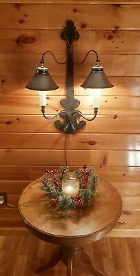 Antique/VTG Italian Candelabra Wall Sconce Light Fixture,Hammered Mission/Crafts