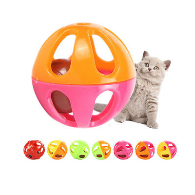 5pcs plastic pet toy small bell cat toy hollow out balls cat toys for kitten_S