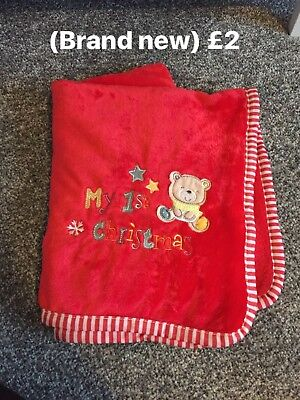 Brand New My First Christmas Blanket