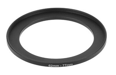 High Quality 62mm To 77mm 62mm-77mm Metal Step Up Filter Ring Adapter UK Stock