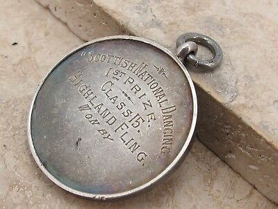 Vintage Antique Sterling Silver 925 Pocket Watch Albert Chain Fob