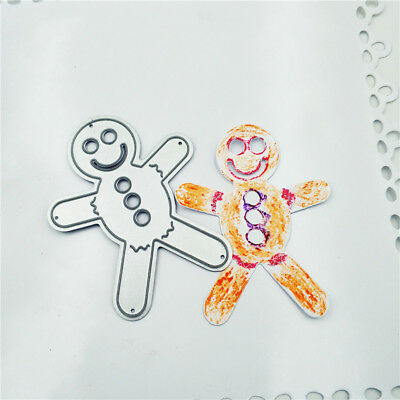 Gingerbread man Metal Cutting Dies Stencils for DIY Scrapbooking Album Cards_S