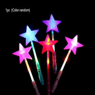 LED Glow Sticks Hollow Five-pointed Star Wands Bar Magic Flashing Luminous Toy