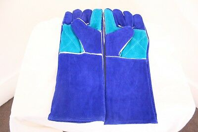"Premium Quality Welding Gloves 16""/40cm Long  Heavy Duty Leather Welding Gloves"