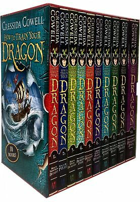 Hiccup How to Train Your Dragon Collection 10 Books Box Set Cressida Cowell