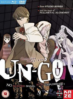 UN-GO Complete Series Anime Collection RC2 UK [2 DVDs + 1 Blu-Ray]