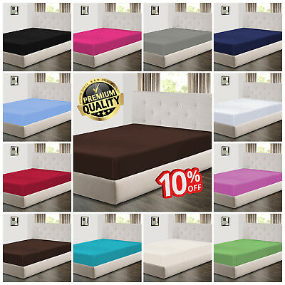 Extra Deep Fitted Sheet Bed Sheets For Mattress With Matching Pillow Cases