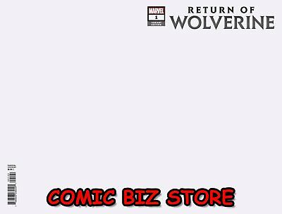 Return Of Wolverine #1 (Of 5) (2018) 1St Printing Blank Variant Cover ($4.99)
