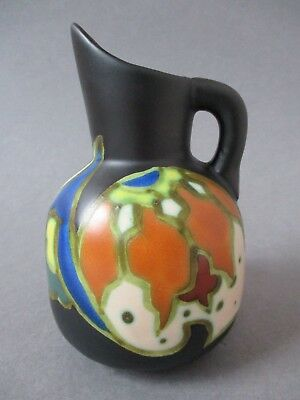 Antique Art Deco Aren Plateel Gouda Jug Vase Pitcher ~ Made in Belgium ~ Signed