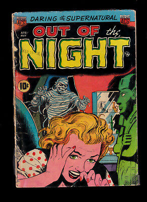 Out of the Night 2 Al Williamson art tape spine Pre code horror  sewn spine