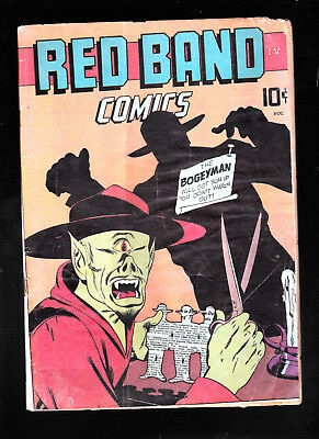 Red Band Comics 4 Bizarre cover brittle flaky pages