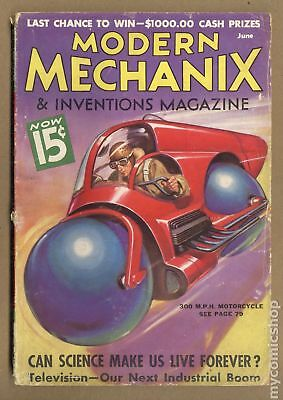 Modern Mechanic and Inventions Pulp #Vol. 16 #2 1936 GD 2.0