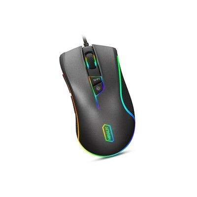 Hiraliy F300 Gaming Mouse Wired RGB Backlit 9 Programmable Buttons 5000 DPI Opti