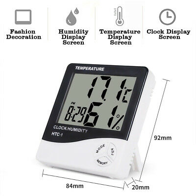 2x LCD In/Outdoor Thermometer Digital Hygrometer Temperature Humidity Display