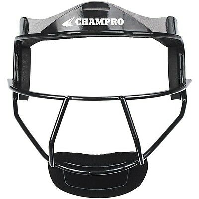 Champro Sports The Grill Softball Fielder Mask Wide Vision Youth or Adult Black