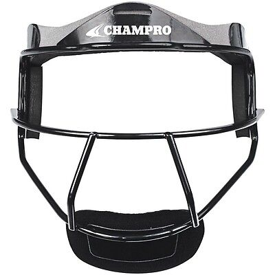 Champro Sports The Grill Softball Fielder Maschera Wide Vision Giovani o da Nero