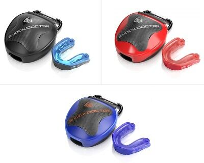 Shock Doctor Gel Max Convertible Mouthguard & Mouth Guard Case Pack
