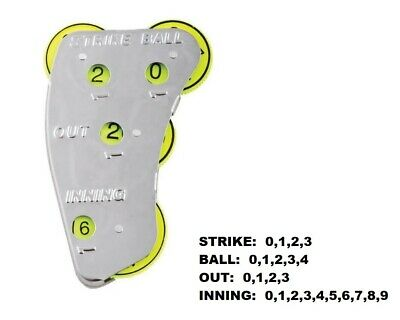 New Champion 4 Wheel Steel Optic Yellow Umpire Indicator Strikes Balls Outs SI4
